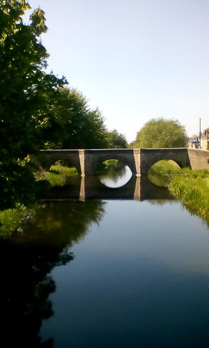 Couples and relationships. River Welland bridge
